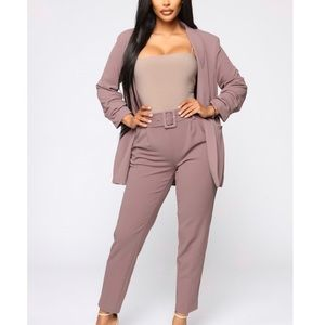 Dusty Purple Blazer/Pant Set